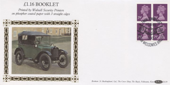 Window: Airmail: £1.16, Old Car