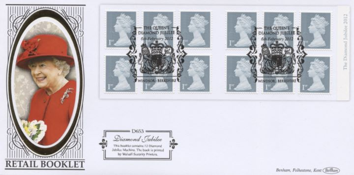 Self Adhesive: Diamond Jubilee: 12 x 1st, HM The Queen