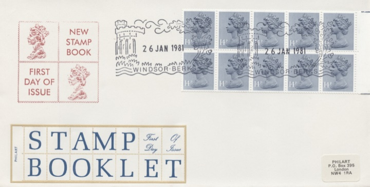 Counter: New Design: £1.40 Ind.Arch. 5 (Preston Mill), Stamp Book