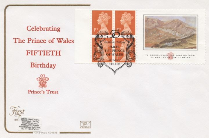 Window: Prince of Wales Paintings, Fiftieth Birthday