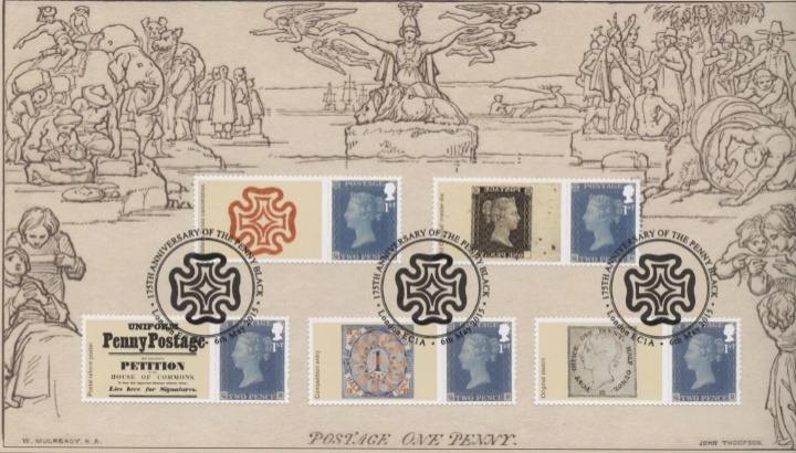 Penny Black: Generic Sheet, W Mulready