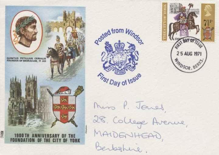 General Anniversaries 1971, City of York