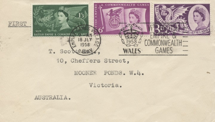 Commonwealth Games 1958, FDC