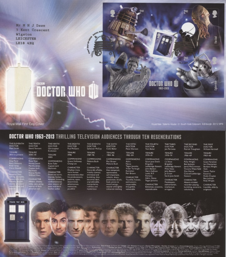 Doctor Who: Miniature Sheet, The Tardis