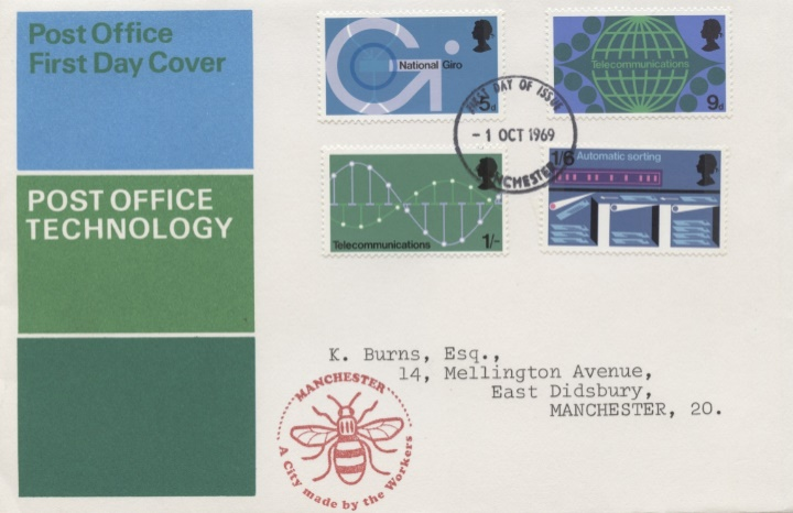 Post Office Technology, Manchester Bee Cachet