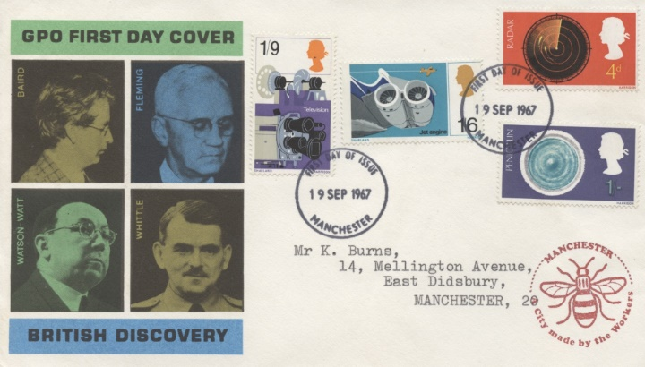 British Discovery, Manchester Bee Cachet