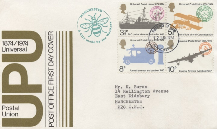 Universal Postal Union, Manchester Bee Cachet
