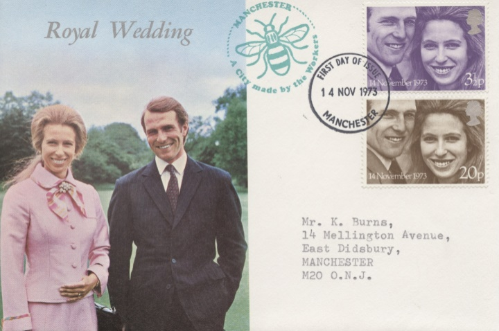 Royal Wedding 1973, Manchester Bee Cachet