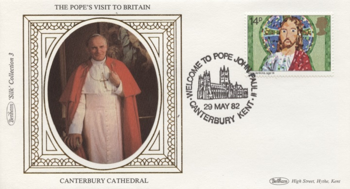 The Popes Visit to Britain, Canterbury Cathedral