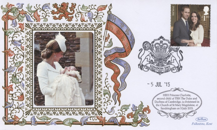Duchess of Cambridge, Christening of Princess Charlotte