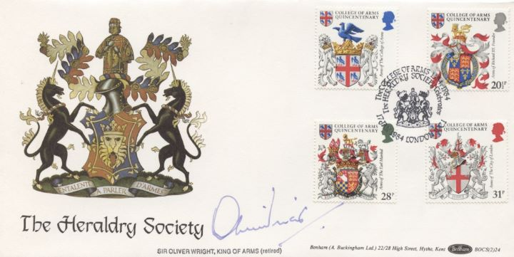 Heraldry, Sir Oliver Wright signed