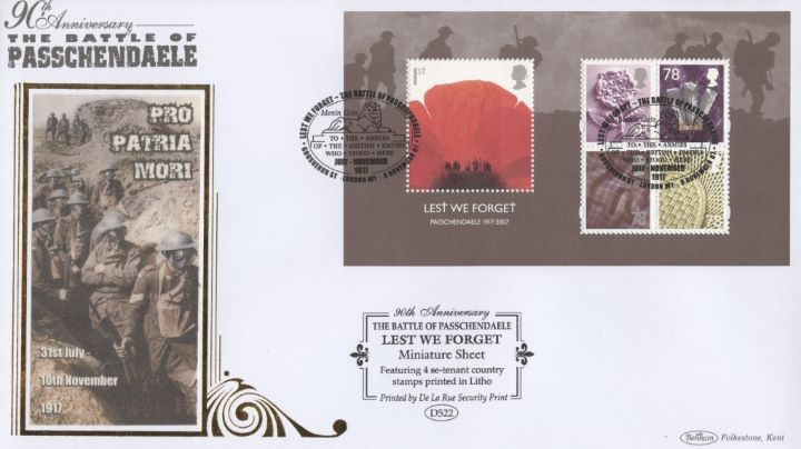 Lest We Forget 2007: Miniature Sheet, Passchendaele