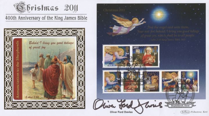 Christmas 2011: Miniature Sheet, Annunciation to the Shepherds