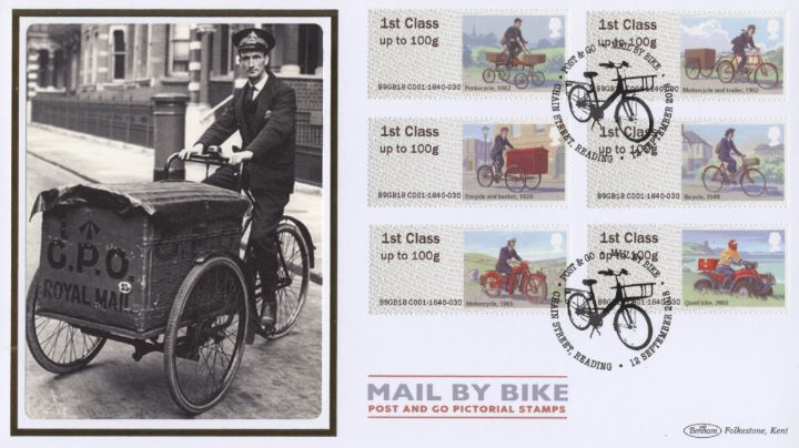Mail by Bike, Tricycle and Basket