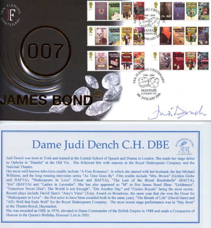 James Bond, Signed by Dame Judi Dench