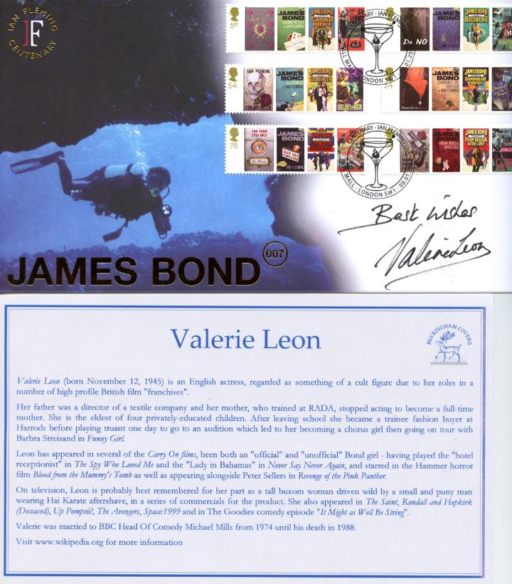 James Bond, Signed by Valerie Leon