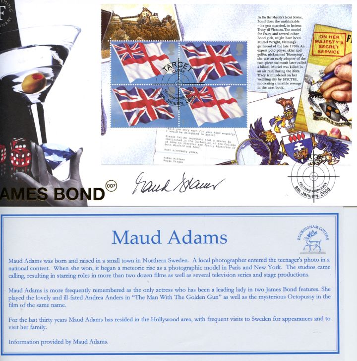 PSB: James Bond - Pane 4, Signed by Maud Adams