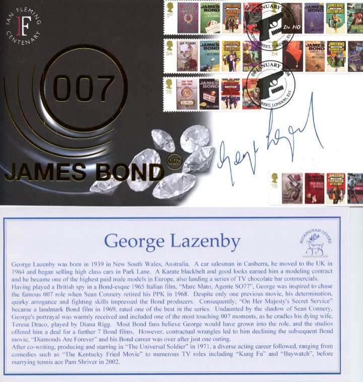 James Bond, Signed by George Lazenby