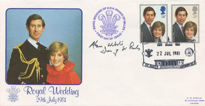 Royal Wedding 1981, Signed by the Dean of St.Paul's Cathedral