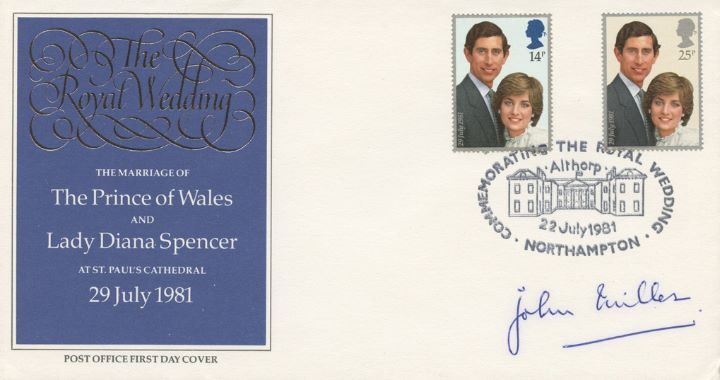 Royal Wedding 1981, Signed by the Crown Equerry