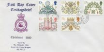 19.11.1980 Christmas 1980 RAF Bruggen Crest Forces, RAF Bruggen Philatelic Club No.0