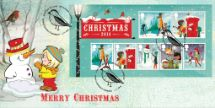 04.11.2014 Christmas 2014: Miniature Sheet Building a Snowman Bradbury, BFDC No.294