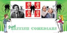 01.04.2015 Self Adhesive: Comedy Greats Comedians on Stage Bradbury, BFDC No.315