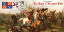 22.08.2015 Battle of Bosworth Richard III and the Earl of Richmond Bradbury, BFDC RIII No.334