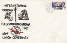 15.11.1965 Telecommunications ITU Single Stamp Cover Holmes Tolley
