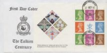 27.10.1992 PSB: Tolkien - Pane 3 RAF Bruggen Crest Forces, RAF Bruggen Philatelic Club No.0
