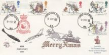 09.11.1993 Christmas 1993 RAF Bruggen Crest & Aircraft Forces, RAF Bruggen Philatelic Club No.0