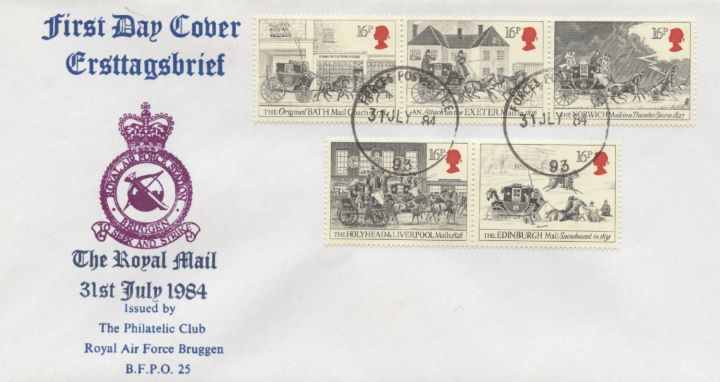 The Royal Mail, RAF Bruggen Crest