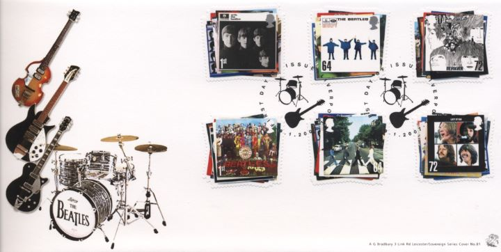 The Beatles, Guitars and Drum Kit