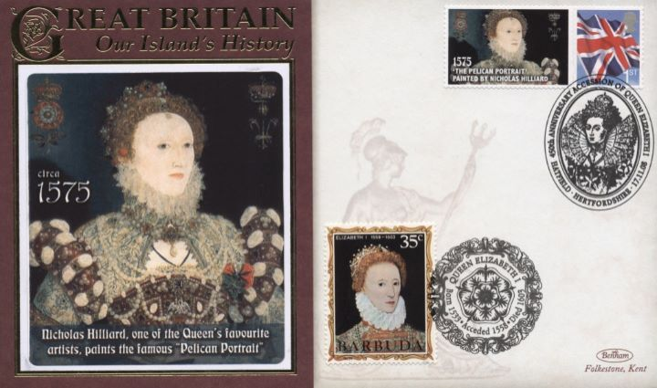 450th Anniversary of Accession, Queen Elizabeth I Pelican Portrait