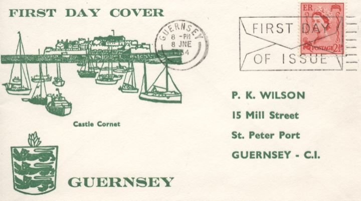 Guernsey 2 1/2d Red, Castle Cornet