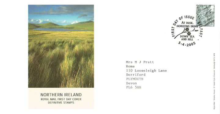 Northern Ireland 42p Linen Pattern, Wetlands