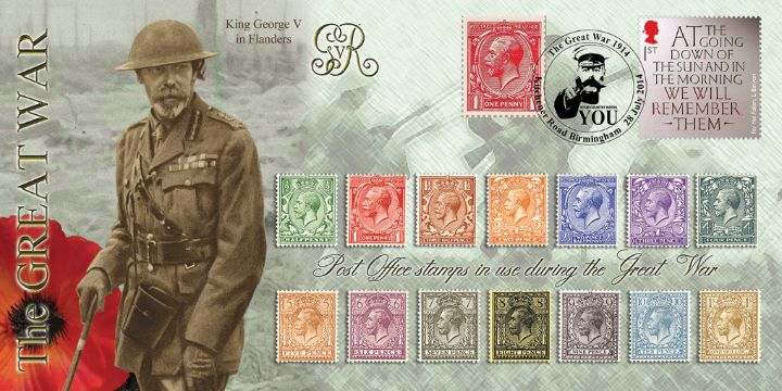 The Great War 2014, Post Office stamps used during the war