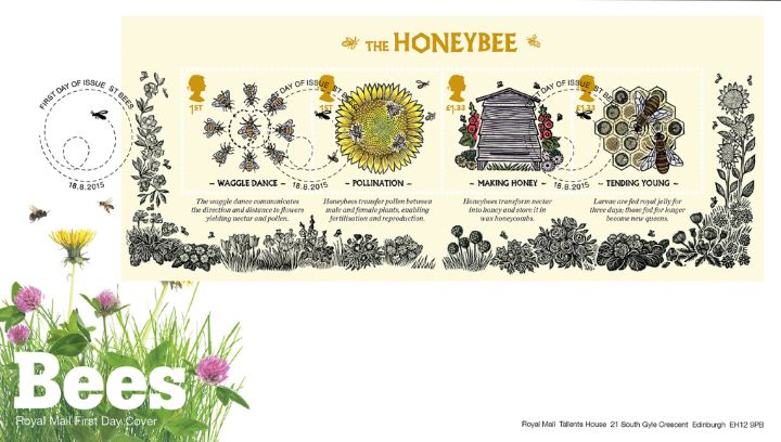 Bees: Miniature Sheet, Bees and Wild Flowers