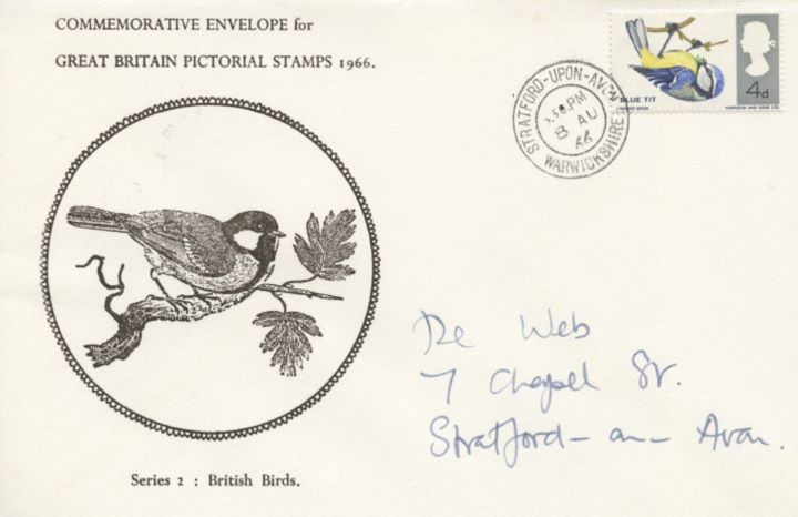 British Birds, Single Stamp Covers