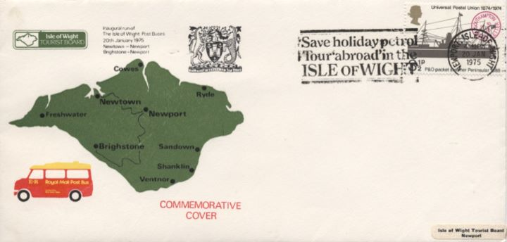 Isle of Wight, Map and Post Bus