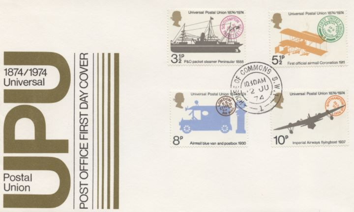 Universal Postal Union, Post Office Covers