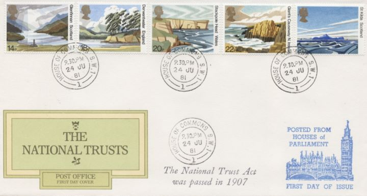 National Trusts, Various cds postmarks
