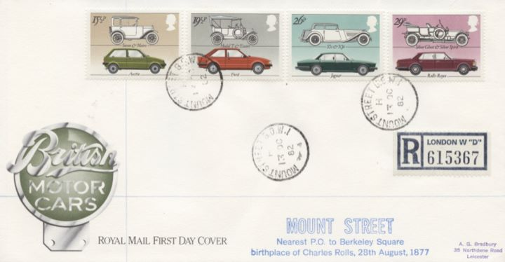 British Motor Cars, CDS postmarks