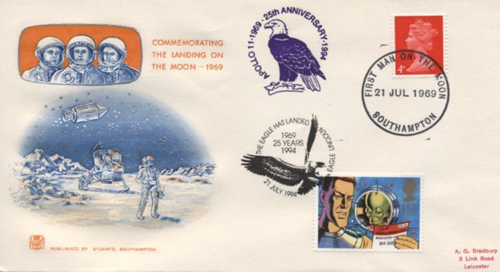 Commemorating the Moon Landing, First Man on the Moon
