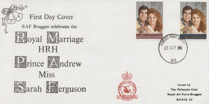 Royal Wedding 1986, RAF Bruggen Crest