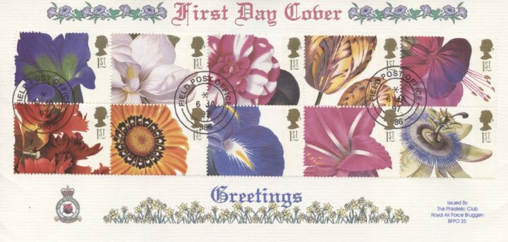 Flower Paintings (Greetings), RAF Bruggen Crest