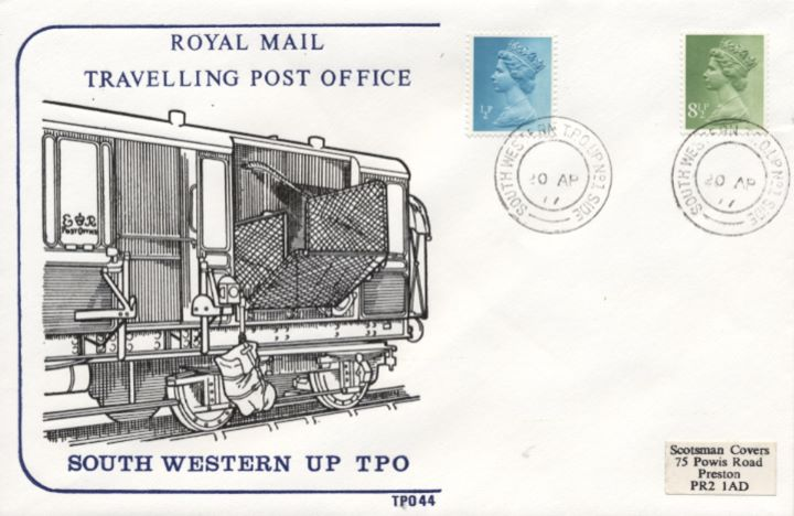 TPO Postmarks, Travelling Post Office