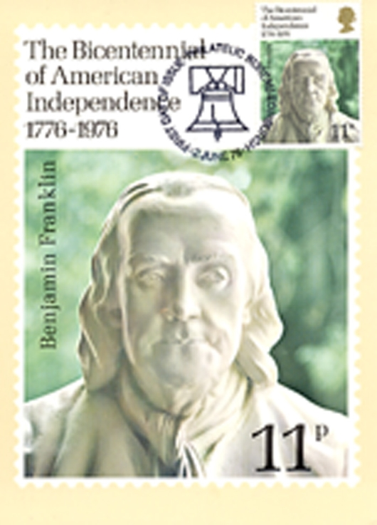 USA Bicentenary: 11p PHQ Card