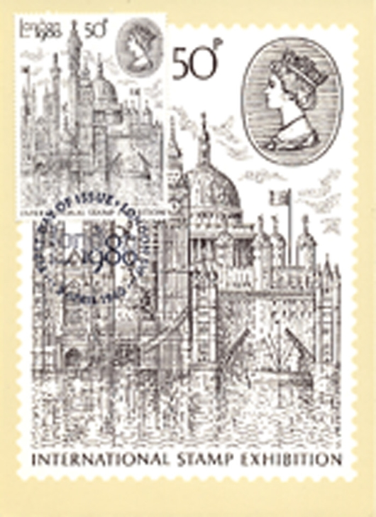 London 1980: 50p Stamp PHQ Card