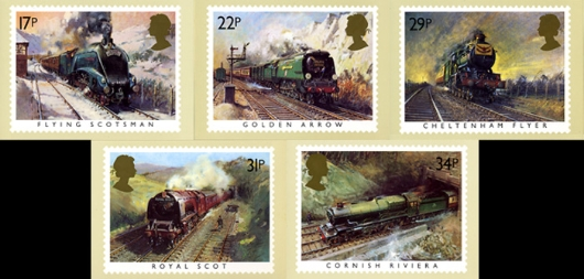 Famous Trains PHQ Card